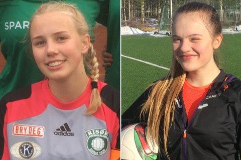 TATT UT: Mari Fone (t.v.) og Celina Christensen Frøyna skal spille for kretslaget.