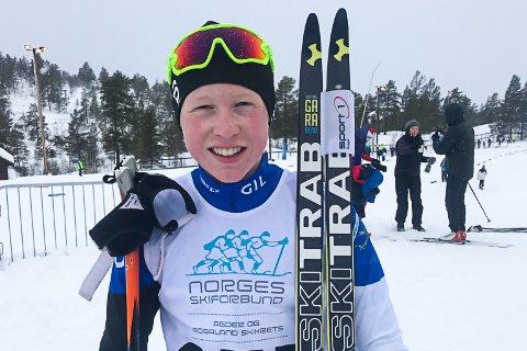 GULLGLISET: Halvor Sørbø måtte se gullet glippe på klassisk, men etter sprinten kunne han smile bredt.