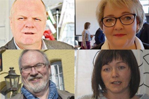 MEST TIL MINST: Jan Dukene hever mest av ordføreren i øst, etterfulgt av Inger Løite i Gjerstad, Per Kr. Lunden i Risør og Kirsten Helen Myrene i Vegårshei.