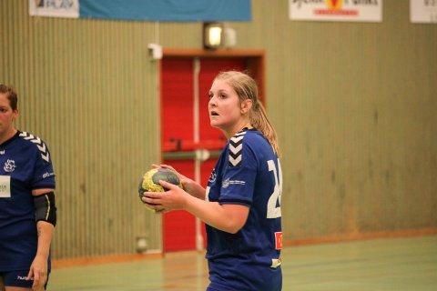 TOSIFRET: Benedicte Ommundsen Smedby scoret elleve av Risørs mål mot Grimstad studentidrettslag.