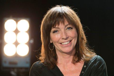 Anita Skorgan kommer til Stangholmen sammen med Petter Nordberg.