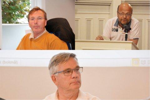 GIR SEG: Både Dag Jørgen Hveem (V), Willy Thorsen (V) og Lars Ole Røed (H) gir seg etter endt bystyreperiode.