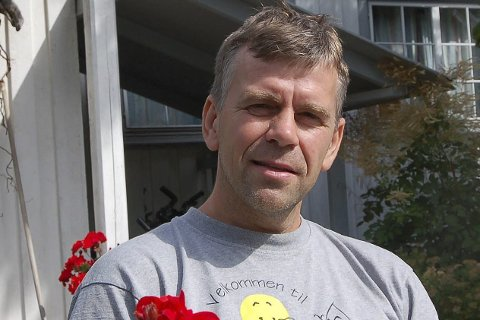 STØTTER: Mads Henrik Sandnes på Sandnes.