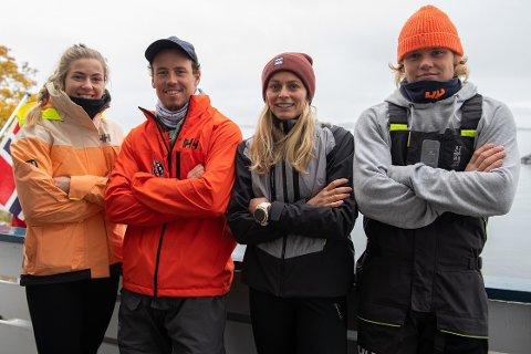 Fra venstre: Marie Rønningen, Mads Mathisen, Helene Næss og Tomas Mathisen.