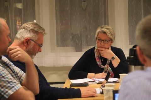STO PÅ SITT: Ordfører og leder for formannskapet, Inger Løite, ønsket ikke å drøfte saken offentlig selv om det ble klart at den allerede var offentlig kjent.