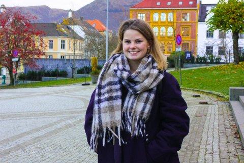 POLITIKERSPIRE: Josefine Gjerde (MDG) er politisk rådgiver for byråd for kultur, mangfold og likestilling i Bergen.