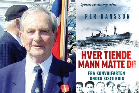 """Boka """"Hver tiende mann måtte gå"""" av Per Hansson ble først gitt ut i 1967, men kommer nå i ny utgave. Beretningen er i hovedsak på Leif Heimstads (t.v.) opplevelser under krigen."""