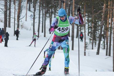 SEIRET: Lars De Bartolo, her fra et tidligere renn, gikk til topps på Bortelid lørdag.