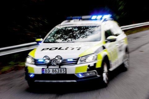 Politiet driver for tiden øvelseskjøring med politistudenter.