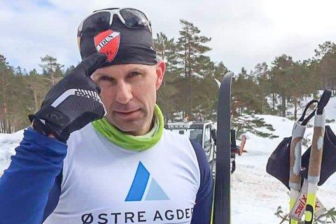 SEIER TIL IDUN IL: Odd Arne Eliassen fra Søndeled og Idun Idrettslag vant Drivheia Rundt søndag.