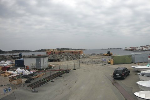 Her er et utsnitt av bildet fra det nye kameraet på Holmen. Det er mulighet for å zoome inn på boligene.