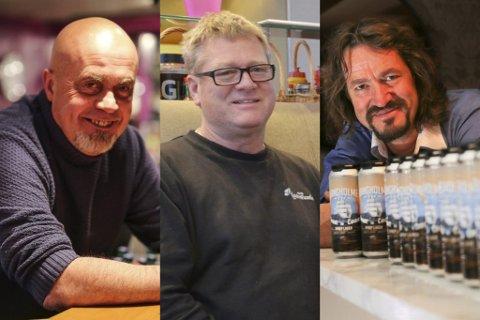 TOPP TRE: Terje Henriksen (Kast Loss m.fl), Kjell Mac Donald (Brygga Restaurant og Pizza) og Dag Eikeland (Stangholmen og Risør Hotel) pøste til sammen ut 131.000 halvlitere i fjor.