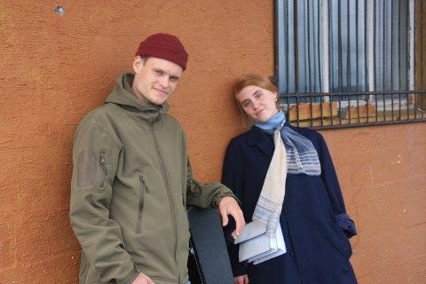 Maria Hansen (22) og Andreas Halvorsen Eriksen (23) eller bedre kjent som DIS, skal for første gang spille sammen med et band på lørdag.