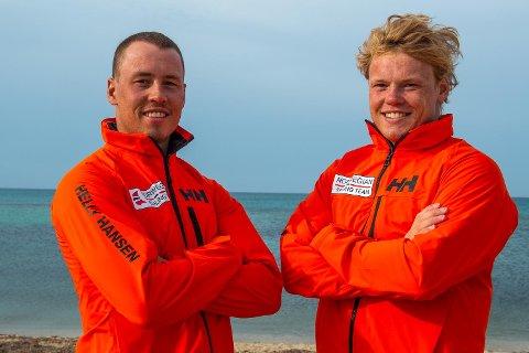 ANDREPLASS: Mads (t.v.) og Tomas Mathisen tok sin andre pallplassering på to helger i Tyskland.