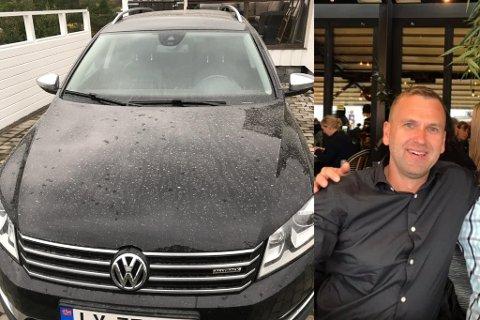 KJIPT: Terje Sivertsens bil var rein i går kveld, og i dag våknet han til et tynt lag med slam over hele bilen. Etter han la det ut på Facebook viser det seg at mange våknet til samme opplevelse.