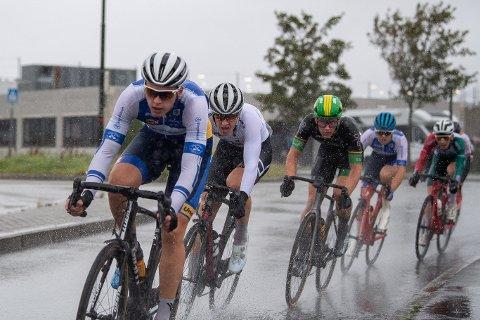I TOPPFORM: Ringerike SK-rytter Magnus Sørbø (fremst) fra Gjerstad leverte glitrende resultater i helgens NM- og norgescuprunde i Rogaland.