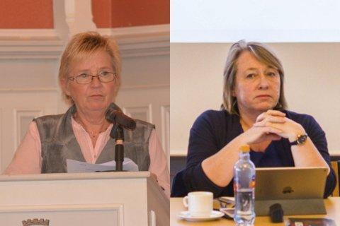 ØNSKER SEG UT: Både Eva Nilsen (Ap) og Mona Stray Rambo (H) søker seg ut av risørpolitikken, ifølge papirene til neste bystyremøte.