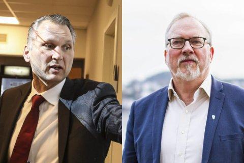 ETT SISTE STØT? Konsernsjef i IMS Group Roy Lansgseth og Risør-ordfører Per Kristian Lunden sier de onsdag kveld skal gjøre ett siste fremstøt i et forsøk på å redde den såkalte næringsveien.