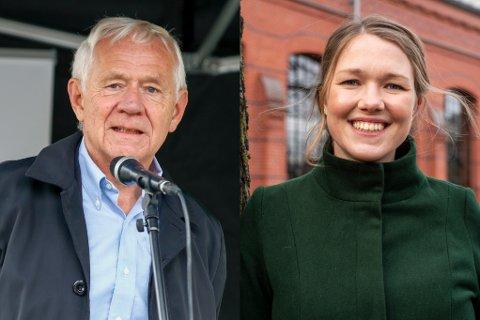 STOPP: Victor Norman og Une Bastholm, partileder i MDG.