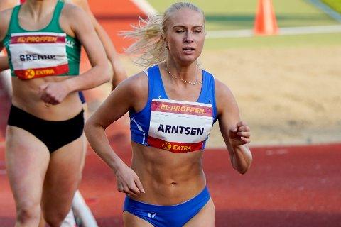 REKORDLØP: Anne Hjorth Arntsen løp sin raskeste 800-meter på Bislett stadion fredag.