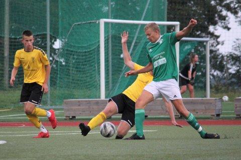 DEBUTANT: Gjersdølingen Magnus Aasbø spilte sine første A-lagsminutter for Risør.