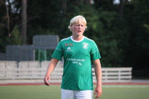 MÅLSCORER: Ludvig Frøyna-Leivann scoret Risørs andre mål i 4-1-seieren over Lillesand 2 mandag.