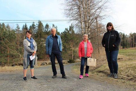 Bente Moe, Reidar Malm, Karin Øygarden og Inger Bjørnstad Hommefoss er med i styret i SMES. De og 47 andre innbyggere i Gjerstad kjemper nå om å få på plass alternative støyskjerminger i forbindelse med ny E18.