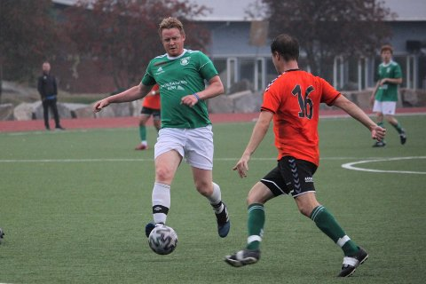 SCORET HAT TRICK: Anders Moland noterte seg for tre scoringer i mandagens 6-0-seier mot Otra.