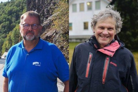 TO, TRE ELLER FIRE? Disse to er ikke enige om hvor mange felt en eventuell ny E18 skal ha. Høyre og Svein Harberg mener, som ordførerne i de åtte kommunene, at man må ha fire felt, mens Knut Henning Thygesen fra Rødt mener, sammen med Naturvernforbundet at en 2+1 løsning holder i massevis.