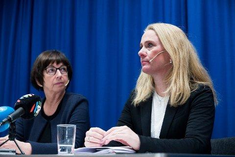 Arbeids- og sosialminister Anniken Hauglie (H) krever svar fra Nav-direktør Sigrun Vågeng om hvordan Nav vil håndtere trygdeskandalen videre. Foto: Terje Pedersen / NTB scanpix Foto: (NTB scanpix)