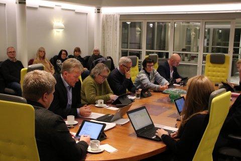 GARANTI: Hanne Risvold (KrF) (i grå genser) fikk et enstemmig formannskap med på et forslag til bystyre om 150.000 kroner i garanti for «Bryggeparken» ved Tjørsvågheimen.