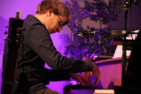 Pianist Earling Nikolaisen var en av gjesteartistene på Flekkefjord bedehus fredag kveld.