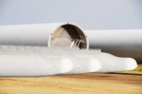 EKSEMPEL: Siemens er blant leverandørene som bruker øyevipper på bladene for å redusere støy fra turbinene.