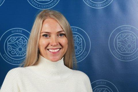 Lill Sverresdatter Larsen ble valgt til ny forbundsleder i Norsk Sykepleierforbund.
