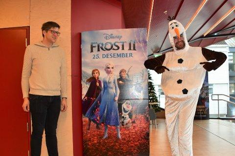FESTPREMIERE: Morten og Terje Aune Gilje gleder seg til fredagens festpremiere på Frost 2. Filmen blir garantert julens store vinner på Flekkefjord kino.