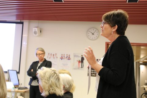 Organisasjonsdirektør Nina Føreland (til høyre) i Sørlandet sykehus utrykte før helgen sin bekymring til direktør Nina Mevold og styret i Sørlandet sykehus.