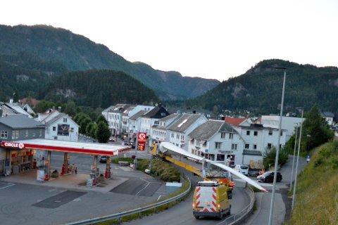 71 METER: En av de første utfordringene var å komme seg gjennom Liknes med et blad på 71 meter