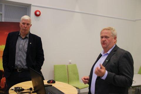 Oppsummering av Listerpakken – hva nå? var tema for ordfører Arnt Abrahamsen (Ap) fra Farsund og og Jan Kristensen (H) fra Lyngdal.
