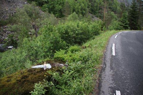 Ulykken skjedde i den første svingen noen hundre meter fra broen på Lona som ligger i Kvinesdal like ved grensen mellom Kvinesdal og Flekkefjord.