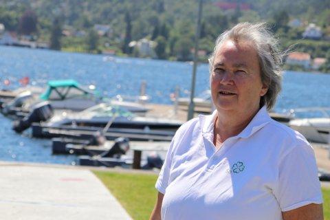 VIND I HÅRET: Nina Danielsen (Sp) er ikke redd for litt motvind og kraftige debatter, men vindkraftverk i Gyland vil hun ikke høre snakk om.