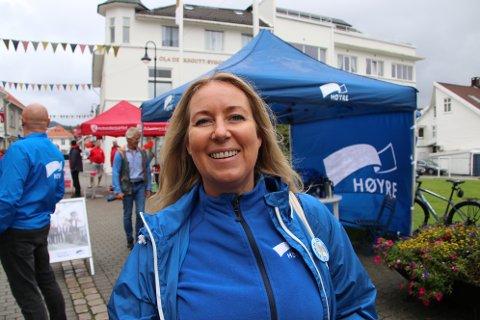 LOKALT ALIBI: Hannah B. Teigland Dybesland fra Mandal er det nærmeste Høyre kommer en lokal fylkestingsrepresentant.