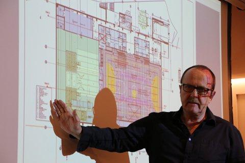 LITT MINDRE: Ved å kutte hallen ned fra 7350 kvadratmeter til 6734 kvadratmeter tror prosjektleder Ove Frøytlog at det skal være mulig å få til bygging av ny hall på Uenes.