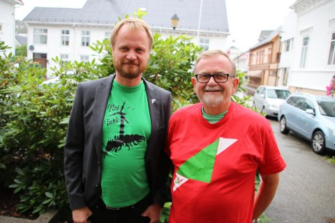 Fylkespolitiker Morten Ekeland og Steinar Dyrli fra SV svarer på spørsmål fra Agder i et videointervju.