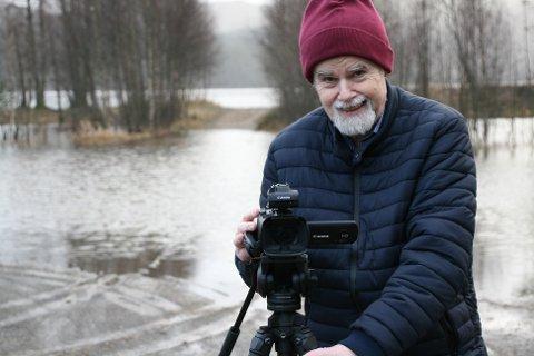 STRANDA: Steiro filmet da «Beltespenna» ble fremført på Kongevoldstranda.