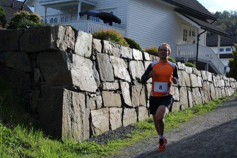 MESTVINNENDE: Bjørnar Stenberg fra Moi gikk til topps i de fleste løpene i 2019-karusellen, her på vei mot ny seier i terrengløpet på Søyland.
