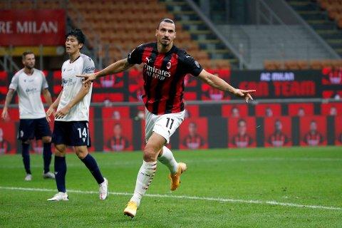 Klar? Zlatan Ibrahimovic var ikke med mot Glimt på grunn av en positiv koronatest. Foto: Antonio Calanni / NTB