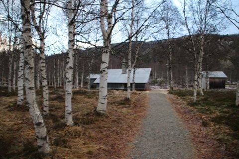 MUSEUMSBYGNINGER: Museumsbygningene rundt infobygget på Kvæven skal utredes for mulig utleie til overnatting.