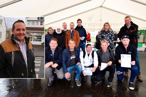 BER OM STØTTE: Gisle Meininger Saudland ber statsråd Knur Arild Hareide støtte prosjektet i Kvinesdal.
