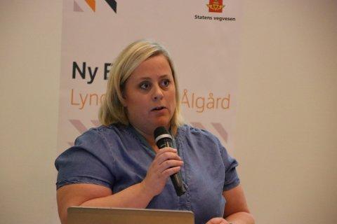 LEDER TEKNOLOGIAVDELINGEN: Utbyggingssjef Anne Stine Johnson for Nye Veier fra Flekkefjord til Sandnes har nå blitt satt over i en jobb som leder for teknologiavdelingen i Nye Veier