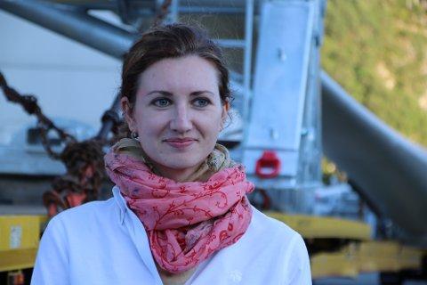 GODE TILBUD: Kommunikasjonsansvarlig Henriette-Sarah Holberg for Tonstad Vindpark mener selskapet har gitt gode tilbud til berørte hytteeiere.